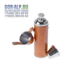 Фляжка Glacier Stainless Leather Wrapped Flask
